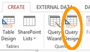 MS Access 2013: Creating a query - step 1