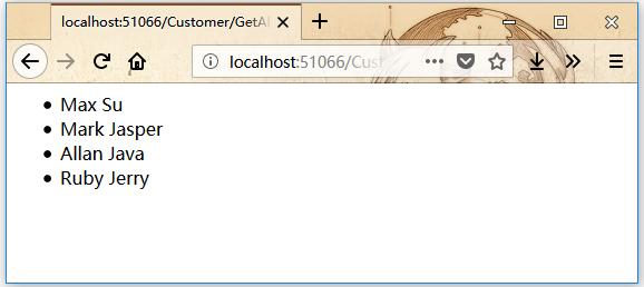 ASP.Net MVC動作