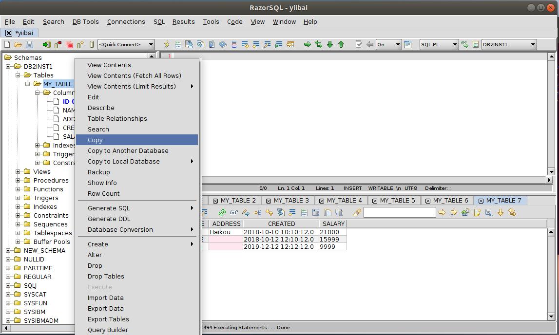 DB2 RazorSQL複製