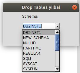 DB2刪除表