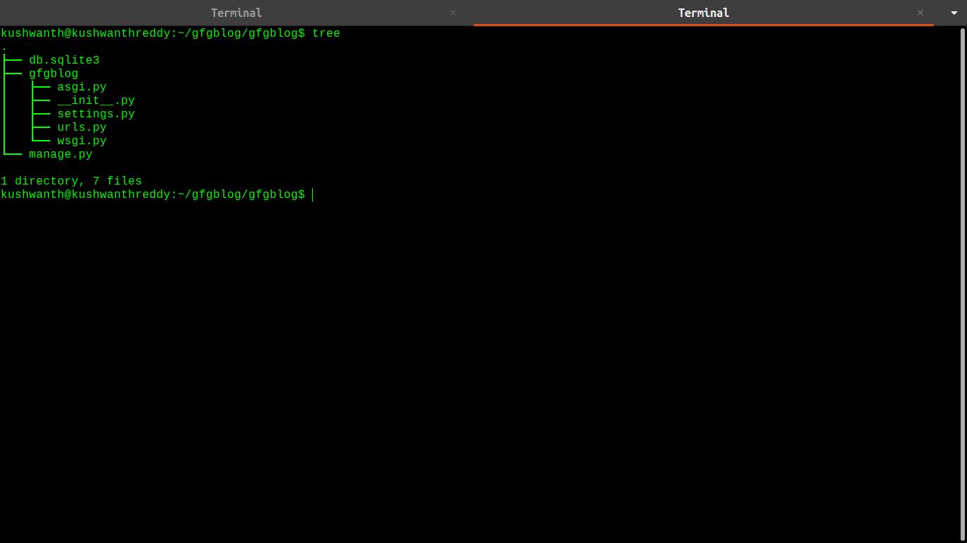 django應用程序目錄樹結構