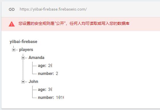 Firebase寫入事務數據