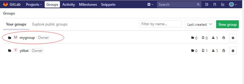 GitLab創建組