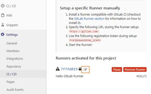 GitLab配置Runner