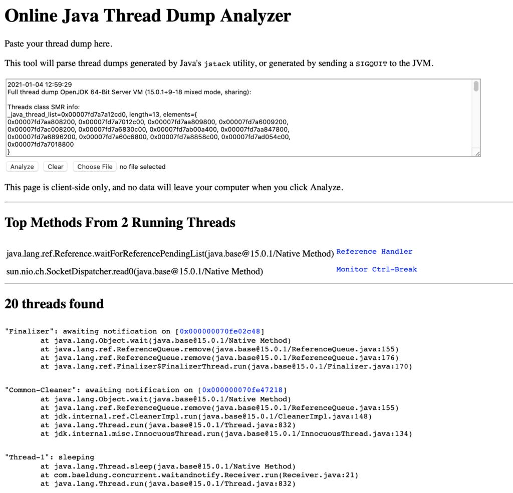 如何分析Java線程轉儲