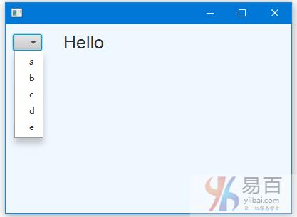 JavaFX選擇框