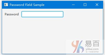 JavaFX密碼字段