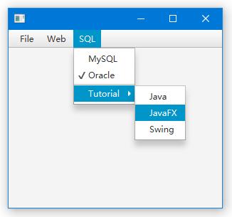 JavaFX菜單(Menu)
