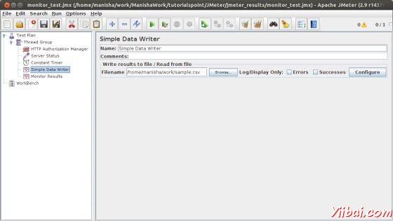 Monitor Simple Data Writer