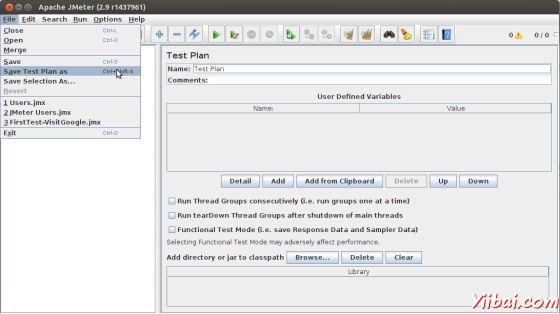 Save Test Plan