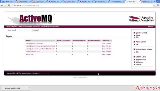 JMS Publish Sub Admin Console