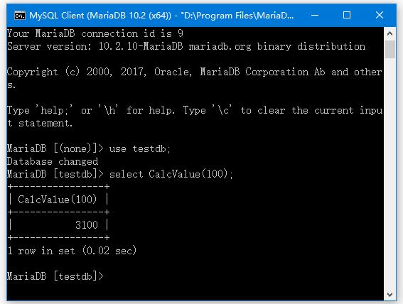 MariaDB函數