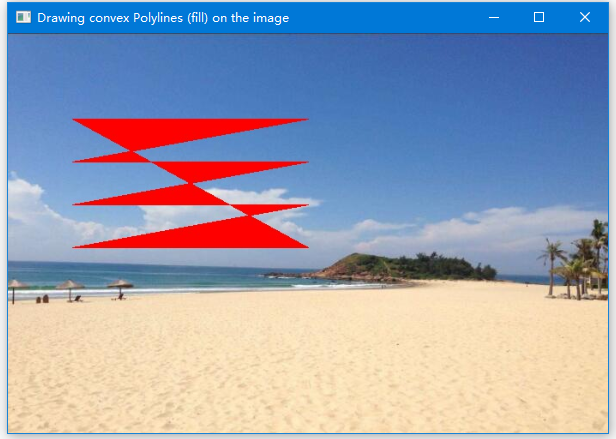 OpenCV繪製凸折線