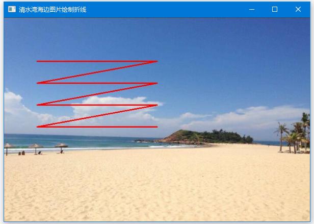 OpenCV繪製折線