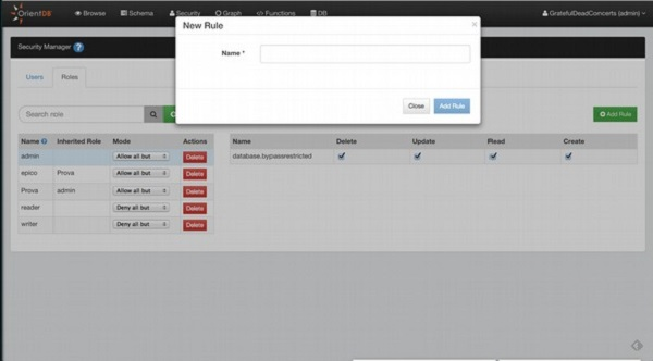 OrientDB Studio Web界面