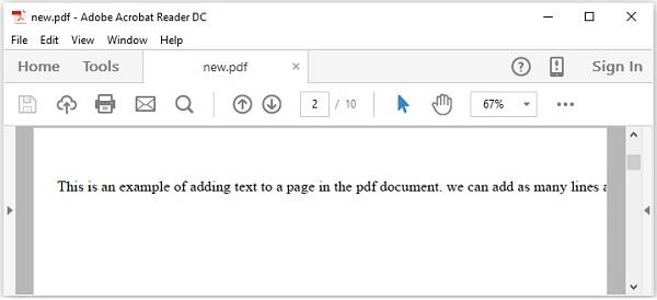 PDFBox添加多行文檔