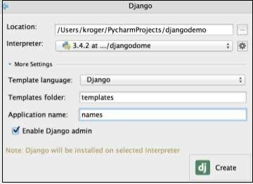 Pycharm Django框架
