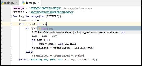 Pycharm改進和編寫代碼