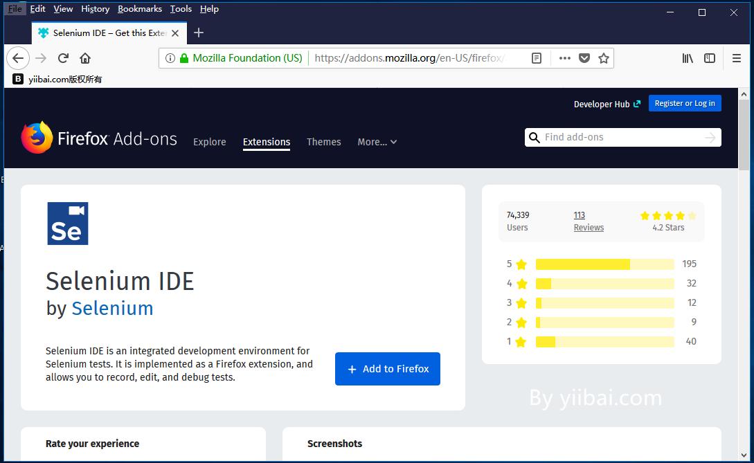 Selenium IDE安裝