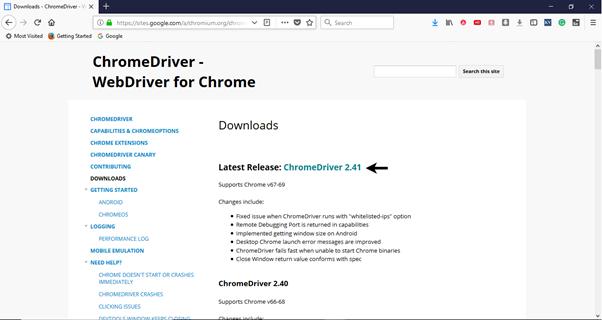 Selenium WebDriver在Chrome瀏覽器上運行測試
