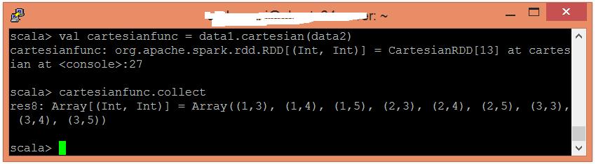 Spark Cartesian函數