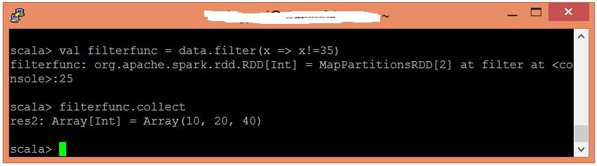 Spark Filter函數