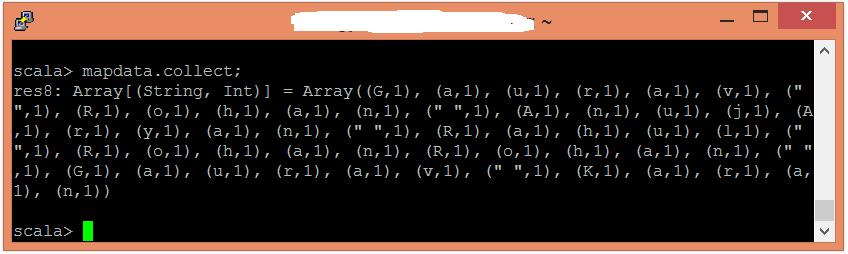 Spark字符統計示例