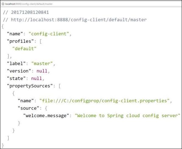 Spring Boot雲配置服務器