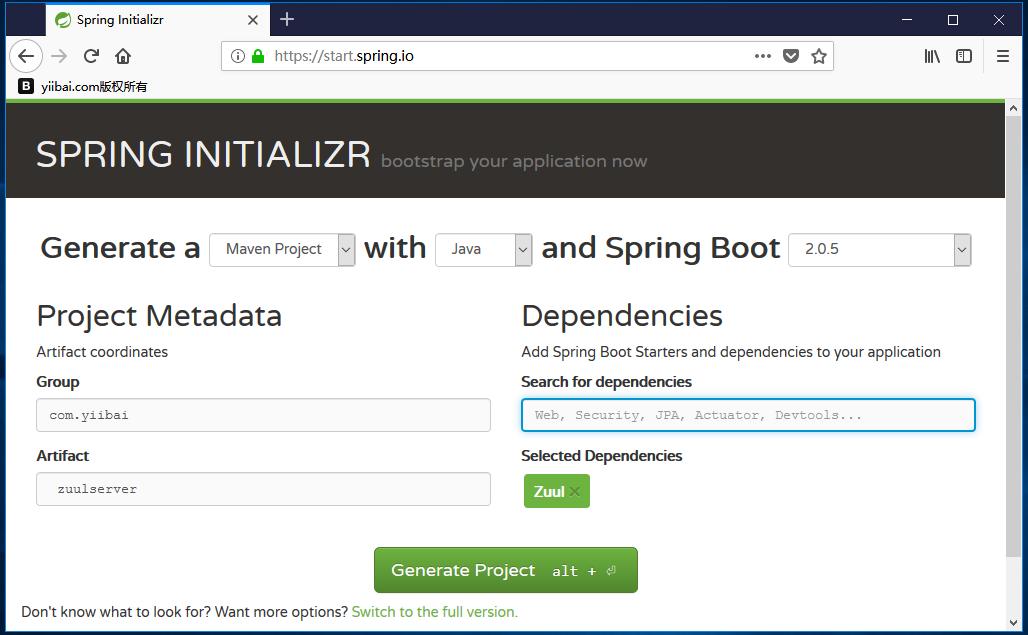 Spring Boot Zuul代理服務器和路由