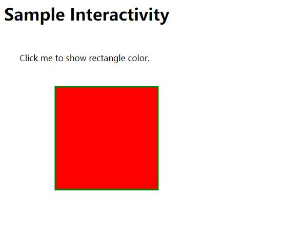 SVG交互