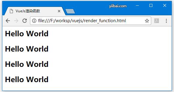 VueJS渲染函數