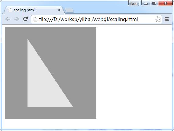 WebGL縮放